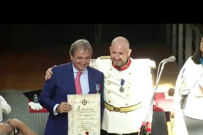 "The nomination of ""Caballeros Custodios de Calatrava la Vieja"" and awarding medals for professional merit, including our partner Juan Luis Balmaseda de Ahumada y Diez"